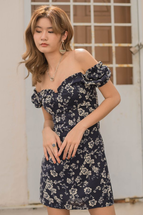 Obsession Dress in Navy Floral