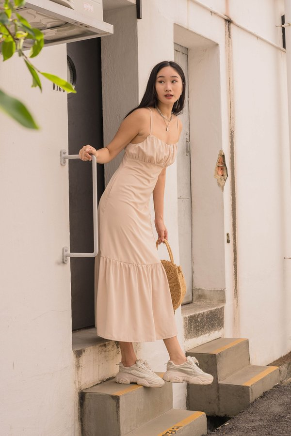 At First Glance Maxi in Toast Beige