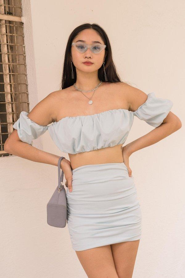 Show Up Skirt in Aqua Blue