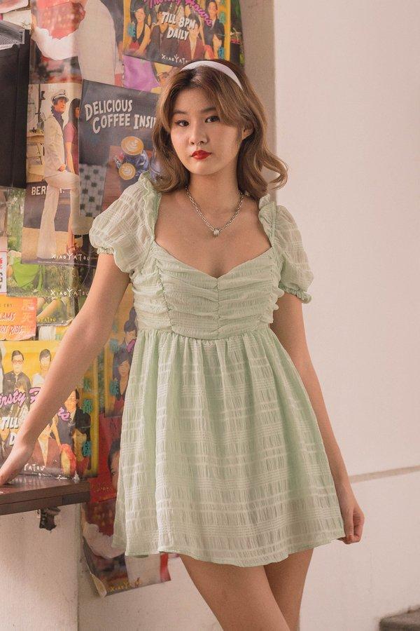Mademoiselle Romper in Tusk Green