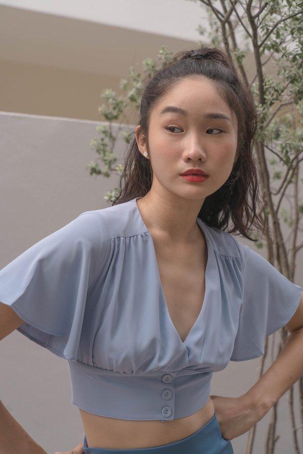 Femme Fatale Top in Twinkle Blue