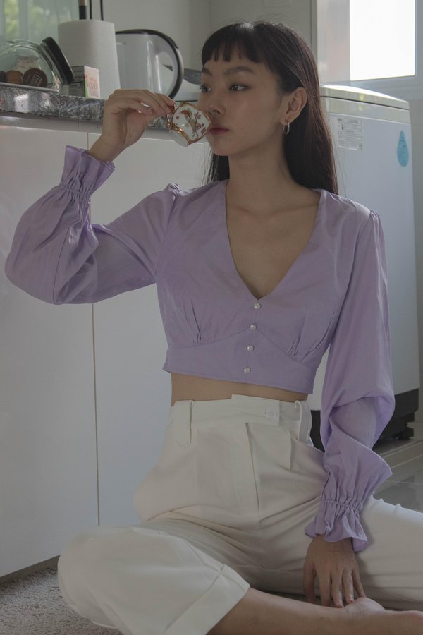 Polished Top in Candy Purple