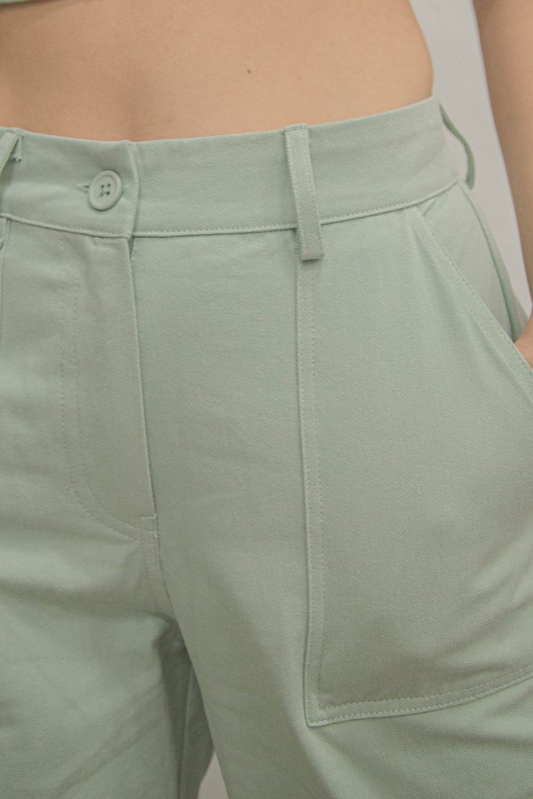 In Too Deep Pants in Light Island Green