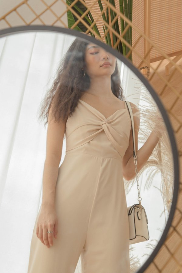 Knock Out Jumpsuit in Captain Beige