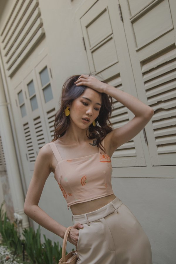 Mandarin Bralet in Peach