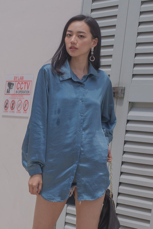 Up All Night Shirt in Revel Blue