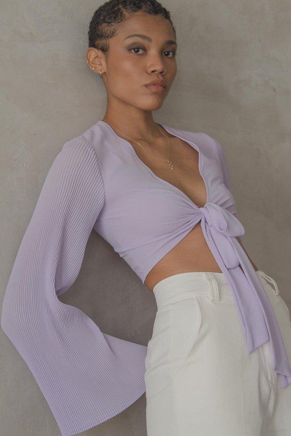 Sugarcoat Tie Top in Windflower Purple