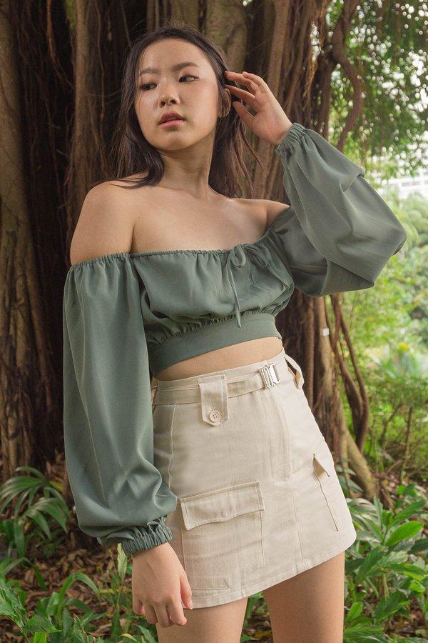 Heroine Skirt in Pearl Beige