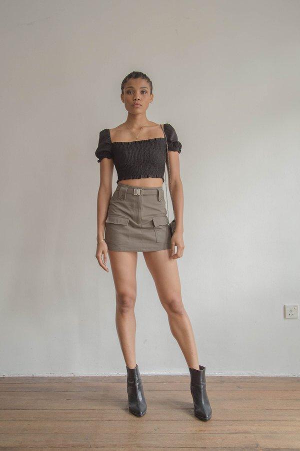 Heroine Skirt in Vine Green