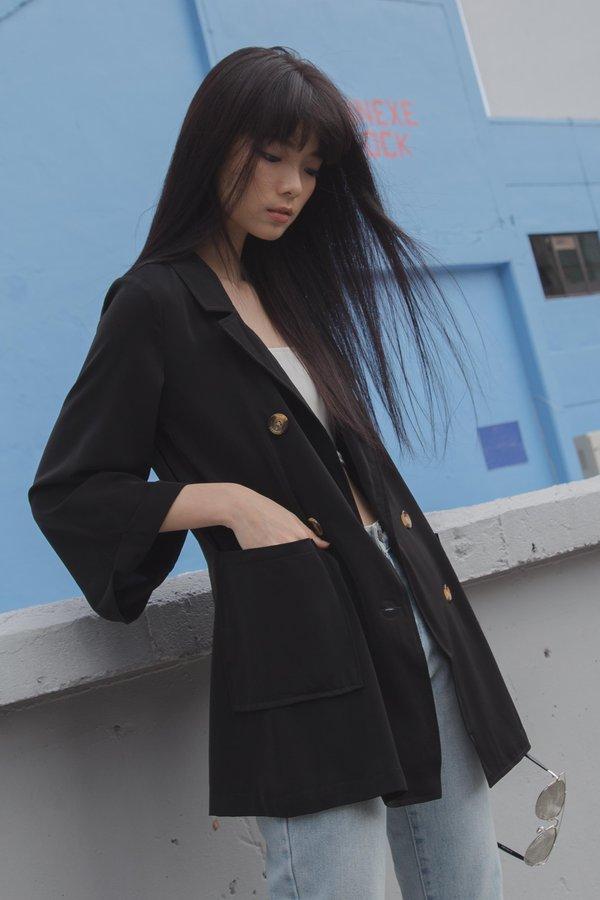 Independent Kimono Blazer in Black