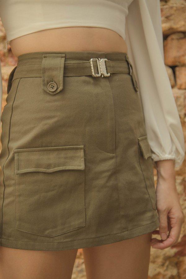 Heroine Skirt in Jungle Green
