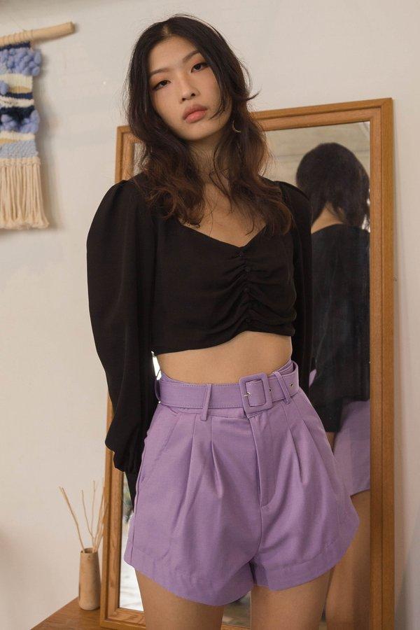 Upside Shorts in Amethyst Purple