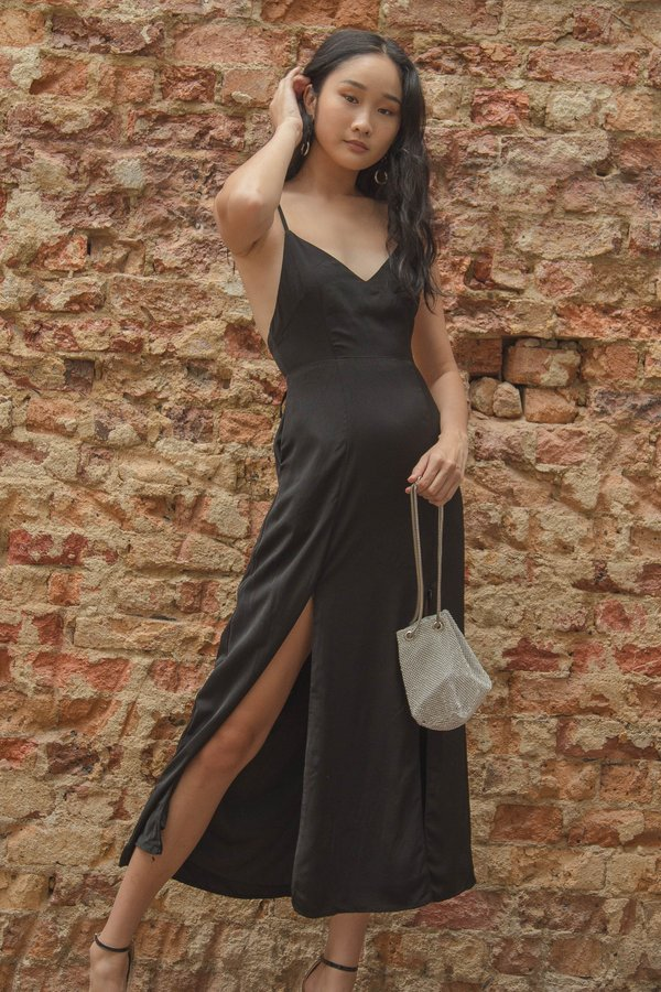 Back End Maxi in Black