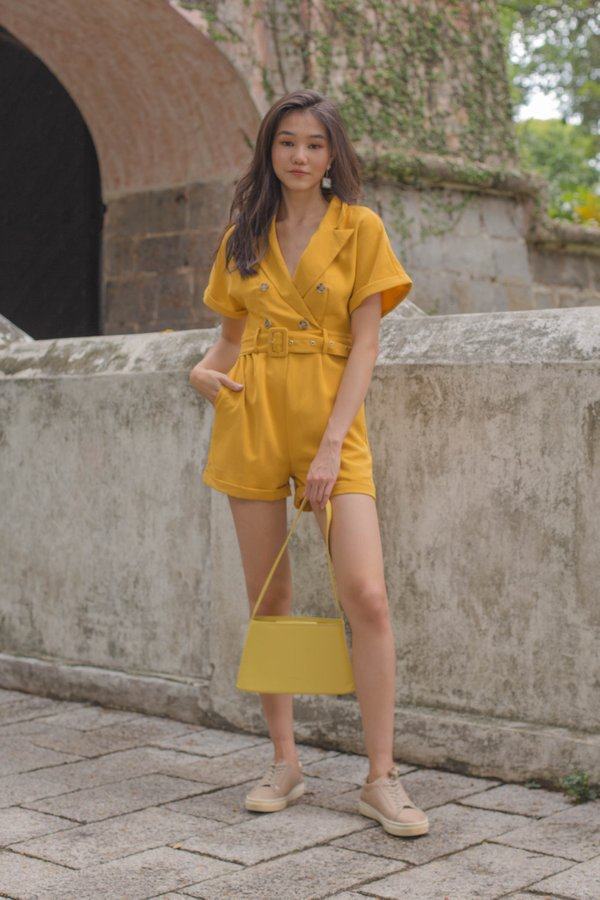 Cadet Romper in Amber Yellow
