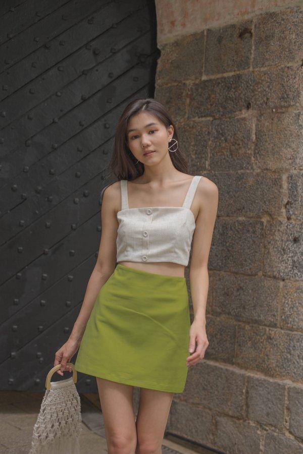 Horizontal Skirt in Kiwi Green