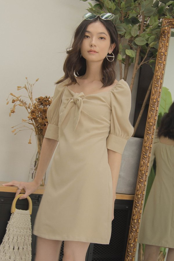 Dream On Dress in Summer Beige