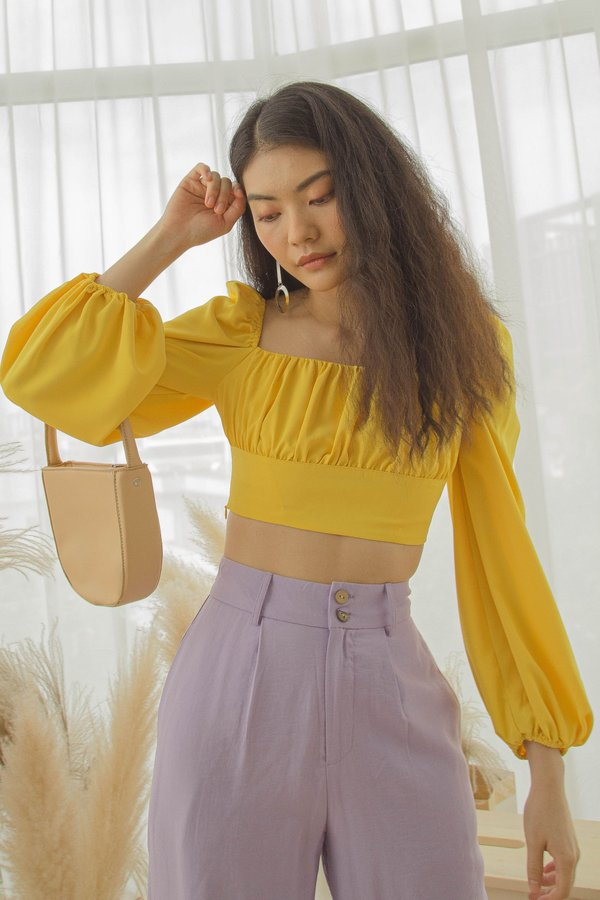 Enchanted Top in Royal Yellow