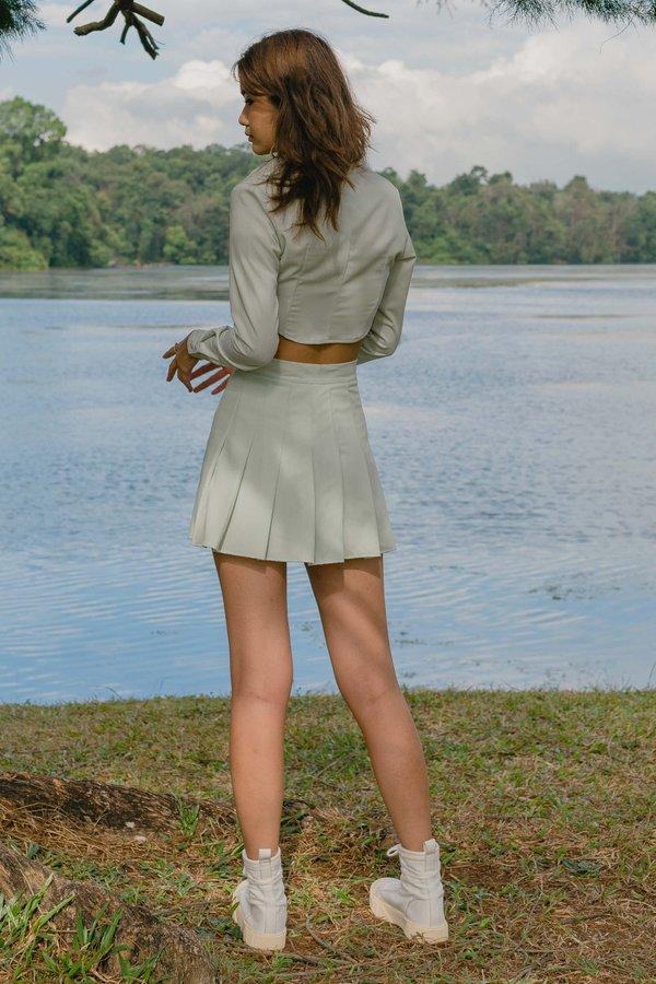 IT Girl Skirt in Chiffon Green