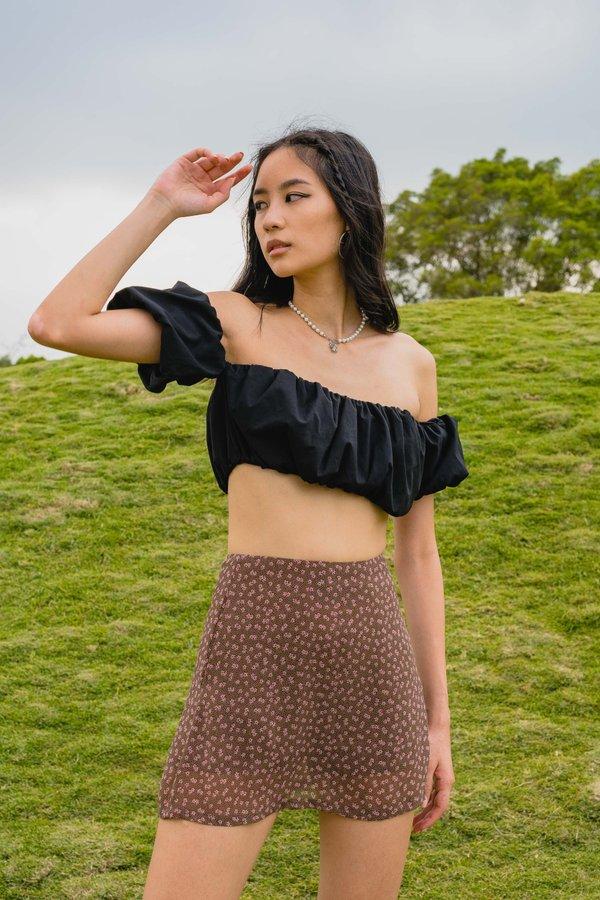Secret Garden Skirt in Brown Floral