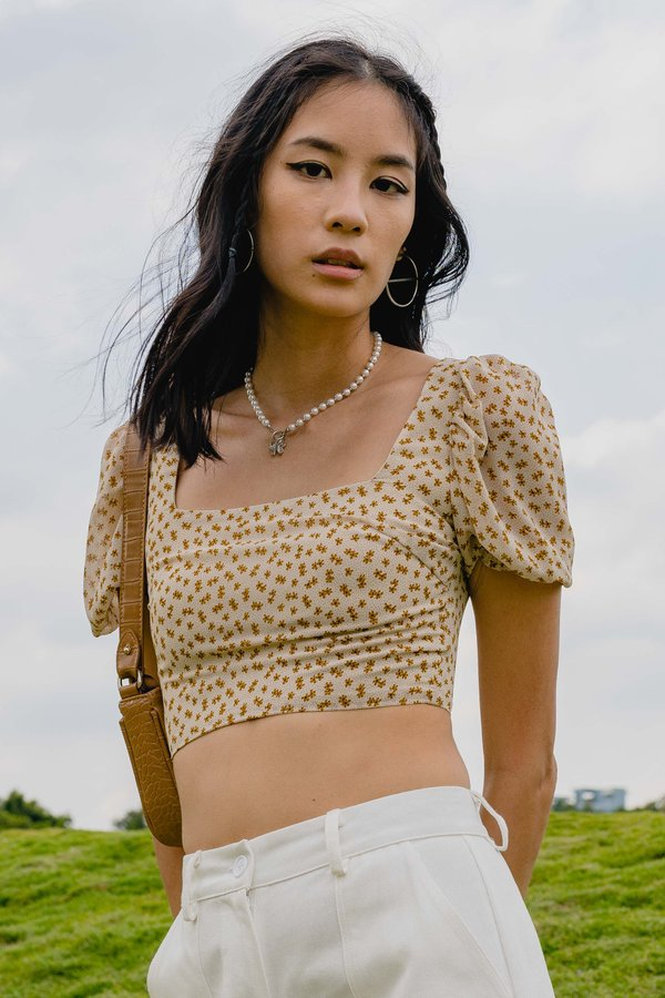 Flower Power Top in Cream Floral