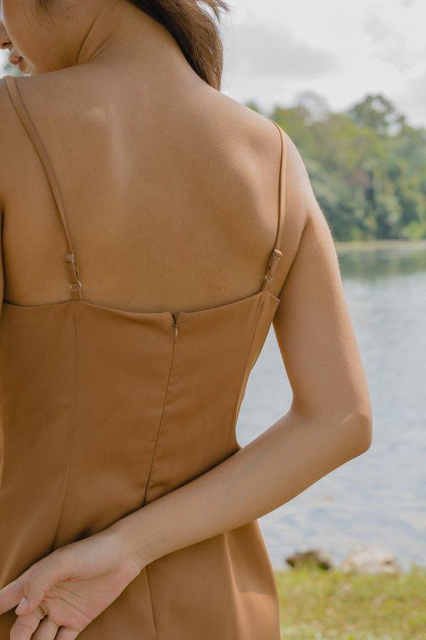 Uptown Dress in Autumn Brown