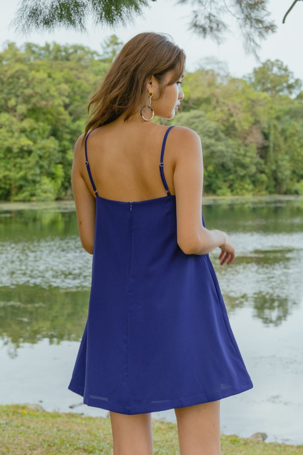Clear Cut Cami Dress in Dark Cobalt Blue