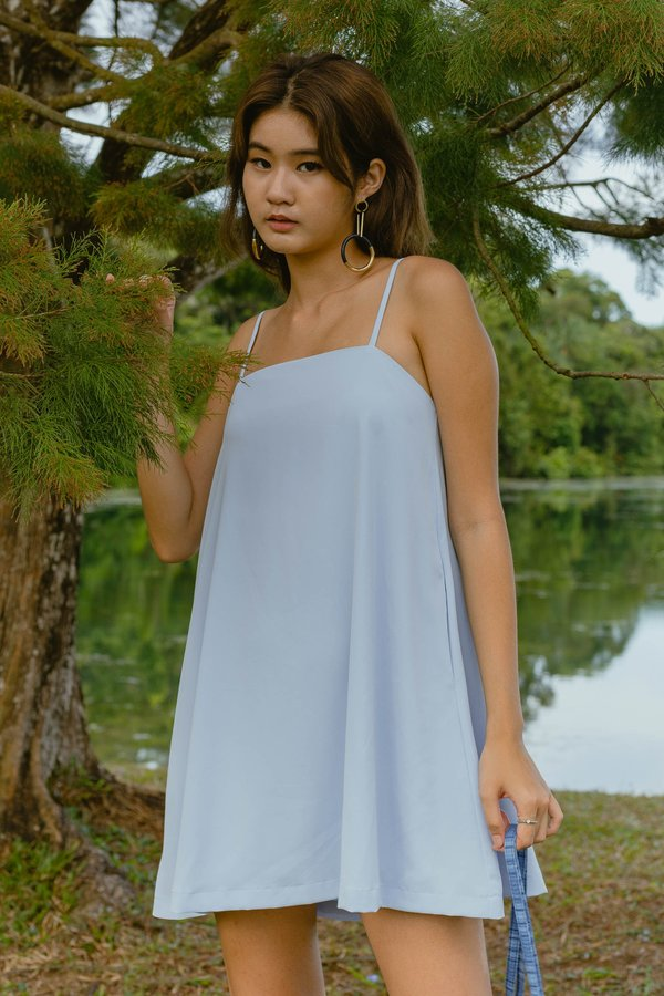 Clear Cut Cami Dress in Summer Blue