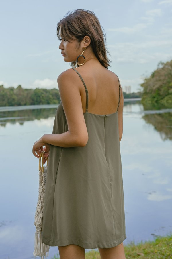 Clear Cut Cami Dress in Sea Fern Green