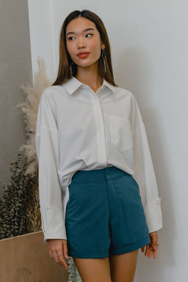 On The Go Shirt in White
