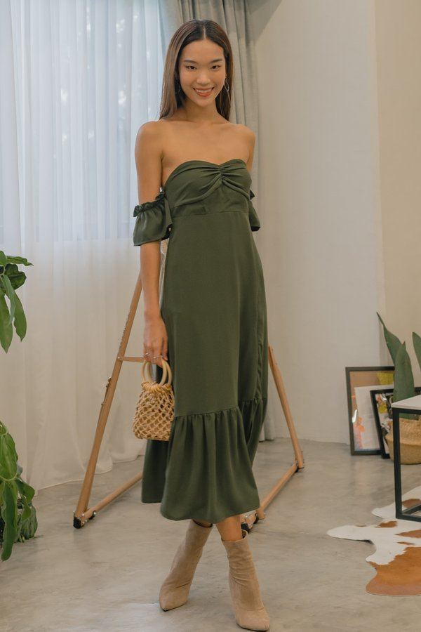 Moments Midi in Dark Leaf Green