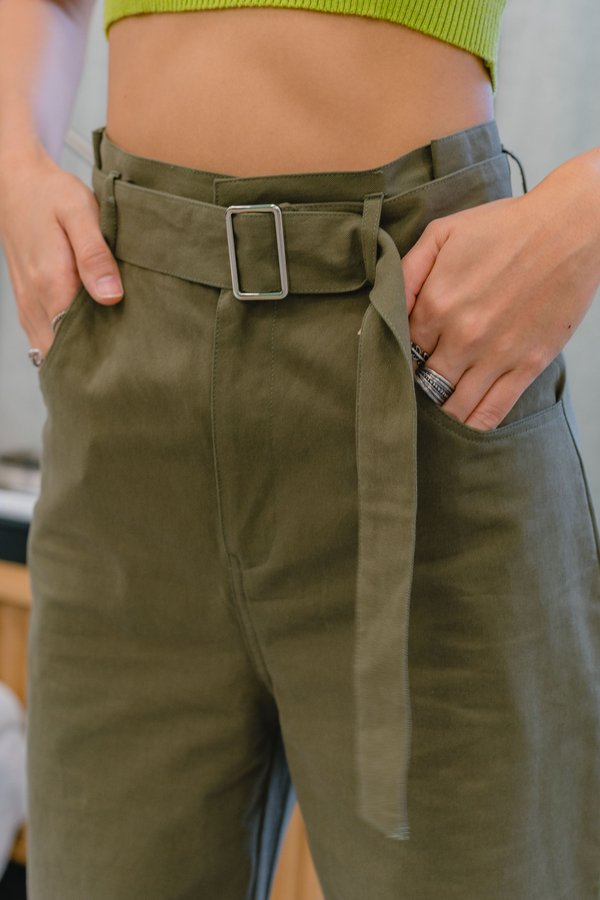 Component Pants in Rainforest Green