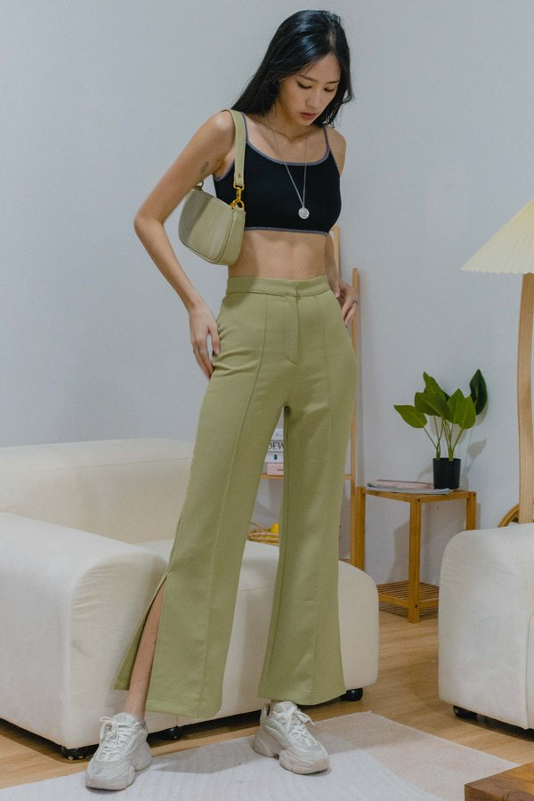 Badgal Pants in Pistachio Green
