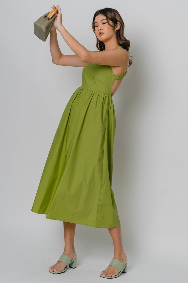 Cross Your Mind Midi in Tropical Green
