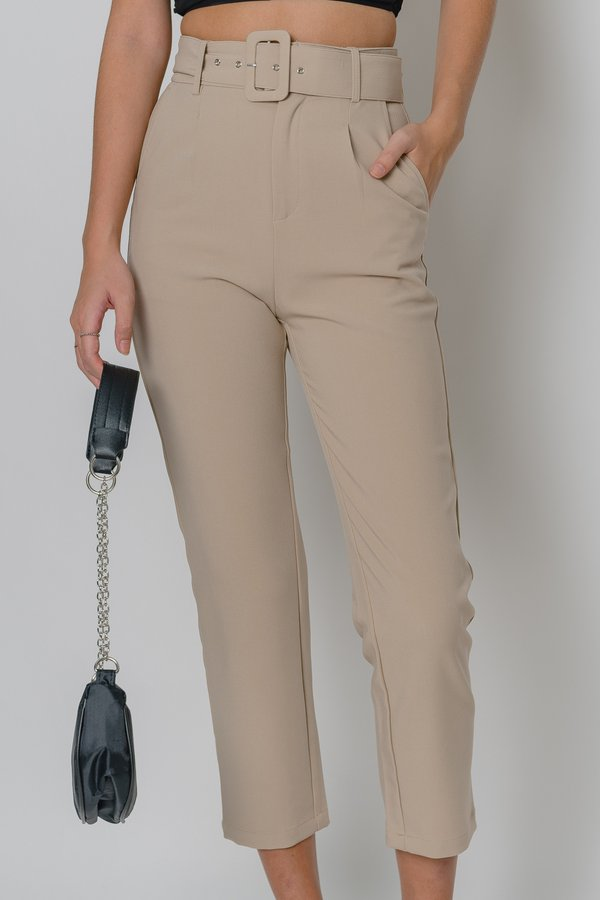 Collective Pants in Mineral Beige