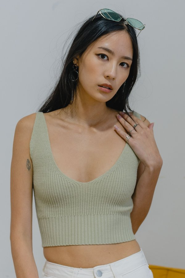 Only One Top in Sage Green