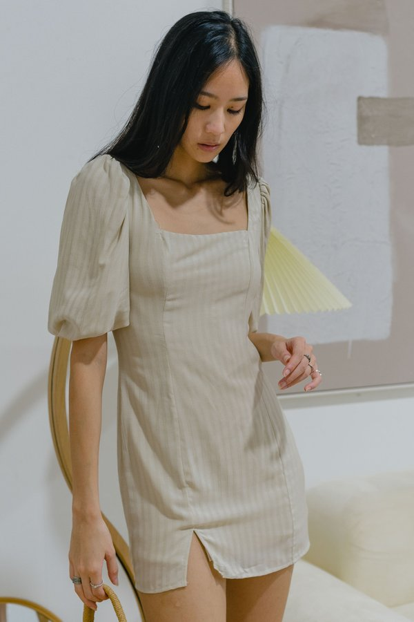 Forever Young Dress in Wheat Beige