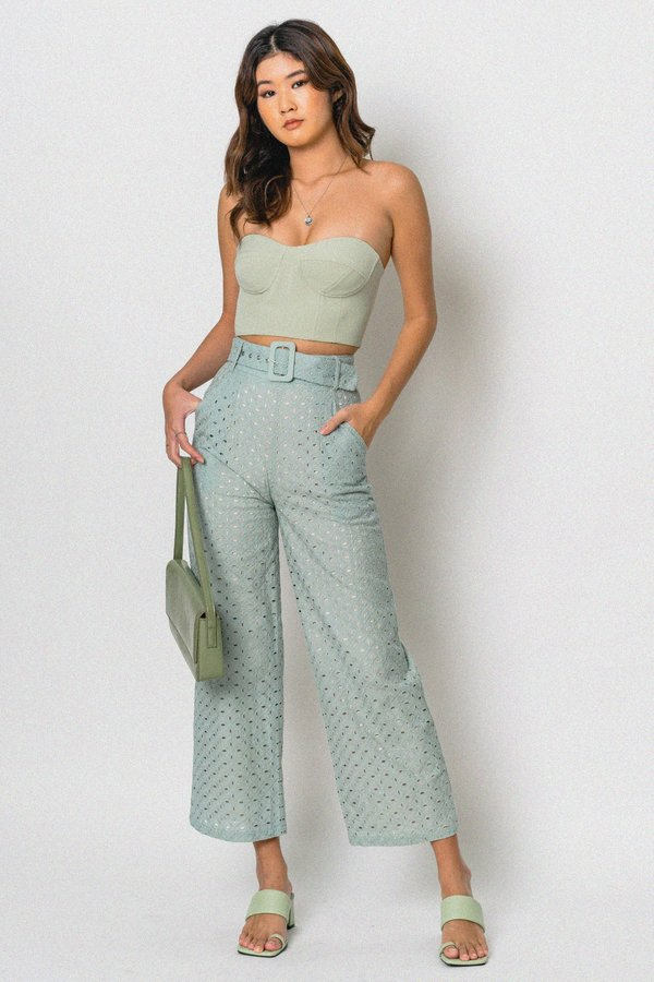 Eyes On You Pants in Light Turquoise