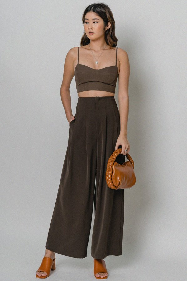 High Profile Pants in Cocoa Brown