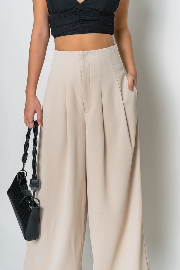 High Profile Pants in Biscuit Beige