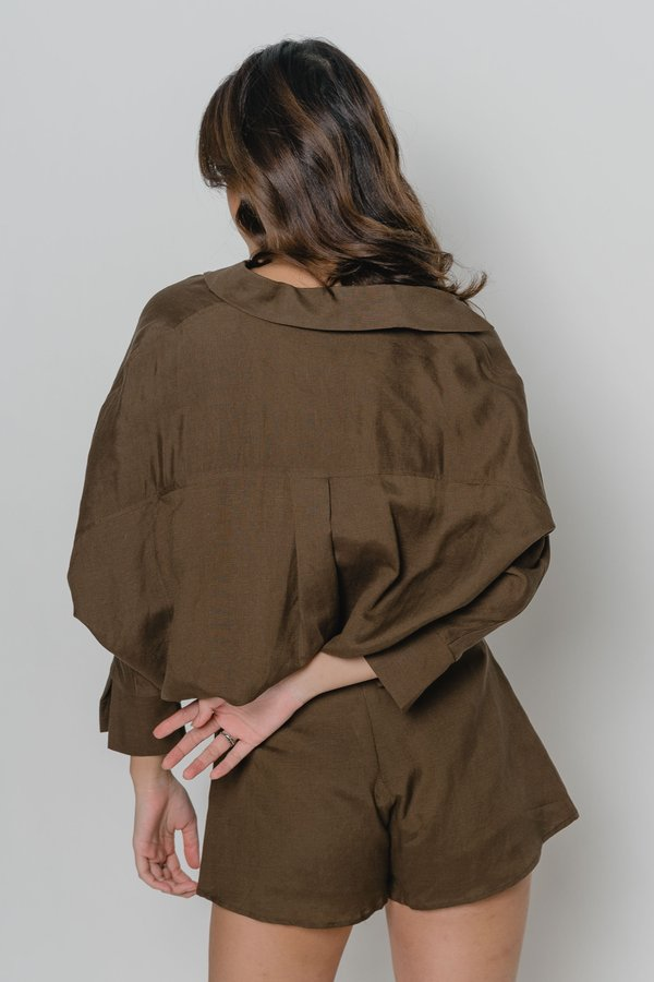 Free And Easy Shorts in Brown