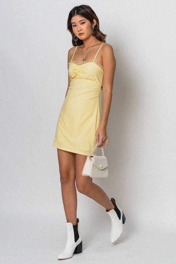Destiny Dress in Light Yellow