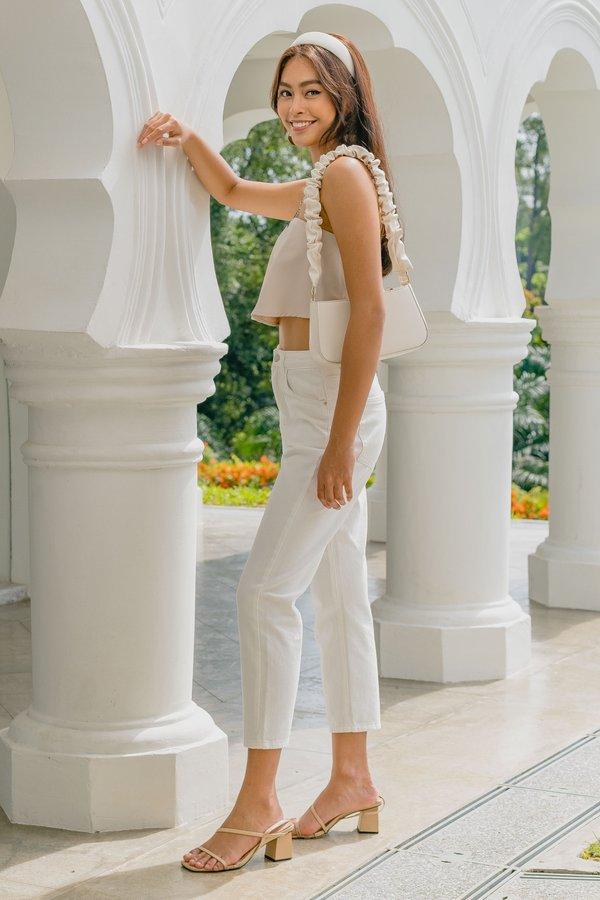Slim Fit Mom Jeans in White