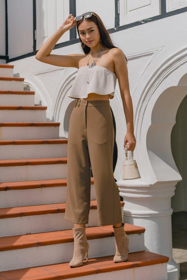 Two Step Pants in Bark Brown