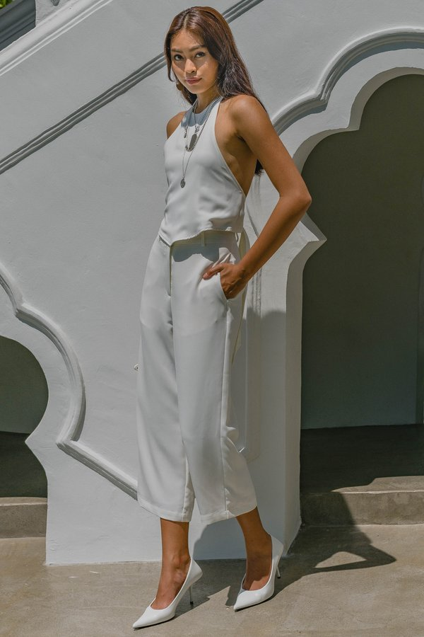 Two Step Pants in White