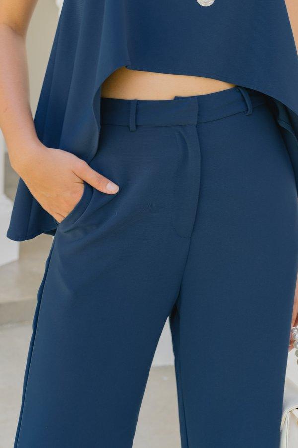 Two Step Pants in Deep Blue