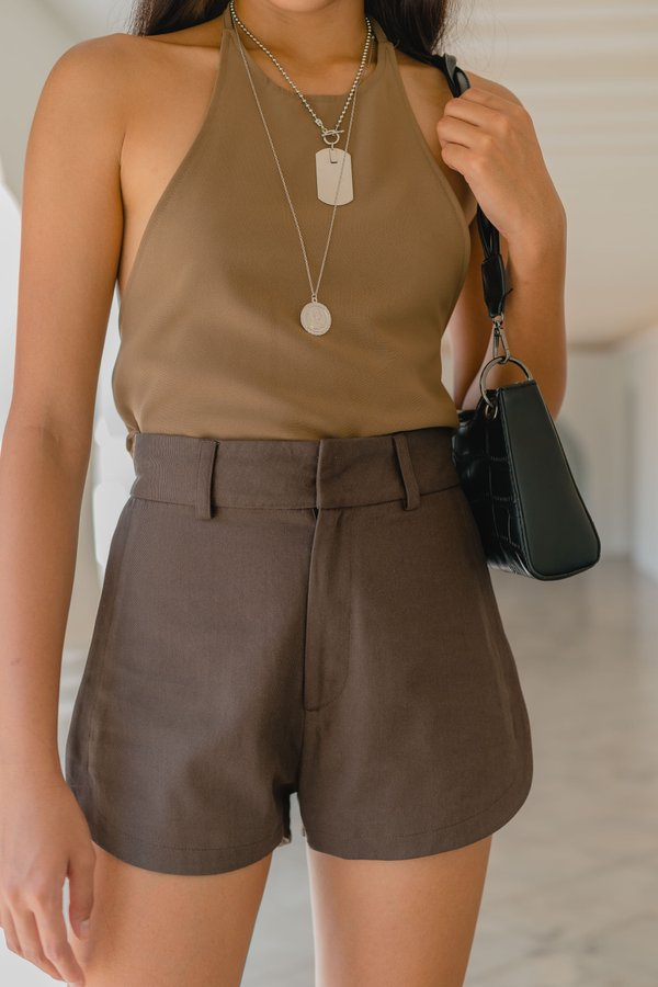 Up Top Shorts in Eclipse Brown