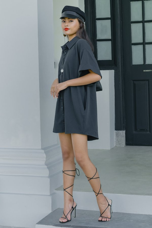 Ease Of Mind Dress in Thunder Grey