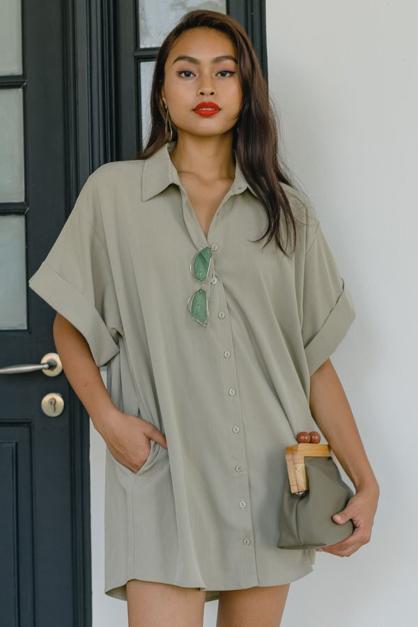 Ease Of Mind Dress in Lounge Green