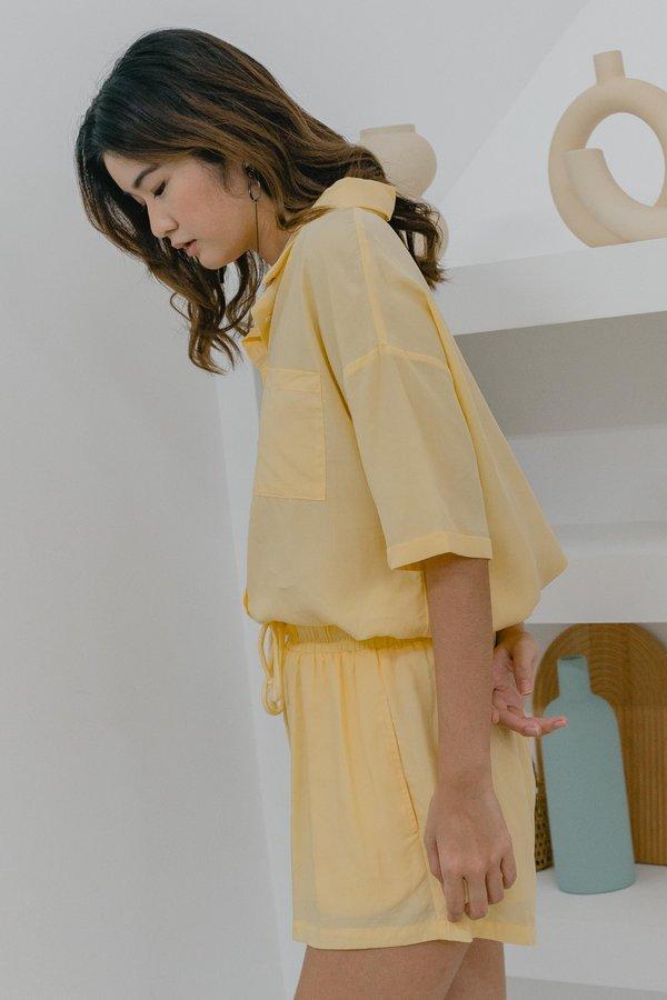 Unwind Shorts in Sunshine Yellow