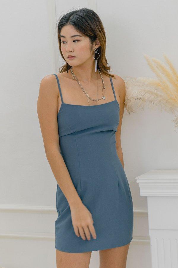 Solitude Dress in Horizon Blue